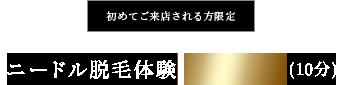 初めてご来店される方限定ニードル脱毛体験 ¥3,000(10分)